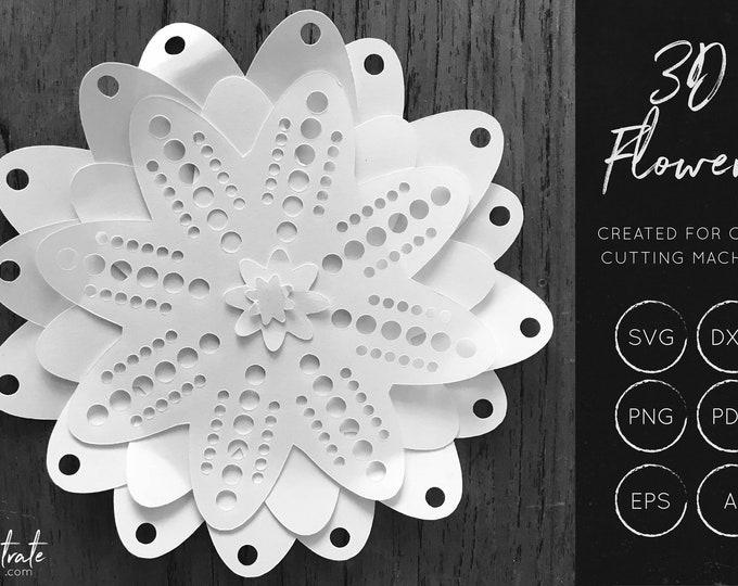 Layered Flower SVG 9
