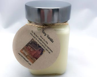 Very Vanilla Soy Candles Handmade, Scented Candles, Vanilla Candle, Natural Candles