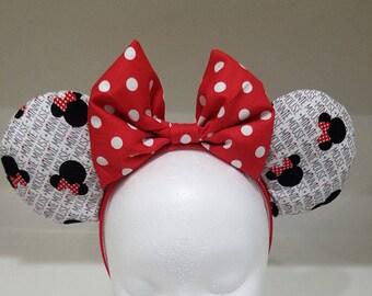 Minnie Mouse Ear Ready to Ship OOAK