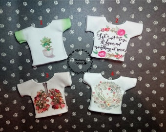 4 styles! for Monster High dolls! T-shirt for dolls with a picture (print)  handmade OUTFIT clothing
