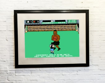 Mike Tyson,Punch Out,NES, Retro,Gamer,games,mma,boxing,ufc, 11x14, Print, Artwork, Painting,Decor,Surreal,Art,geek