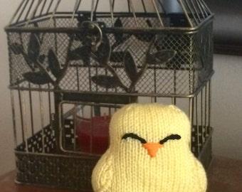Knit Stuffed Animal - Baby Chick