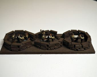 Handmade WWII US Army Heavy Weapons Mortar Team