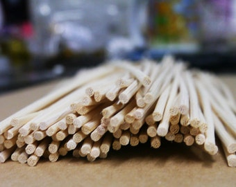 100 Rattan Reeds for Diffuser Fragrance, 10 inch. length, 3mm Dia.
