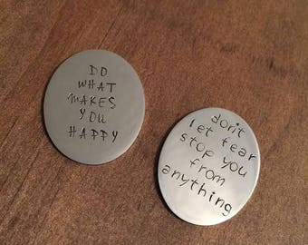 Motivation Magnets- Inpiration Magnets- Do What You Love Magnet- Don't Let Fear Stop You From Anything Magnet- Refrigerator Magnets- Fridge