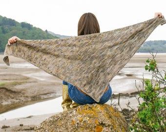 Coastlands Shawl PDF Crochet Pattern.
