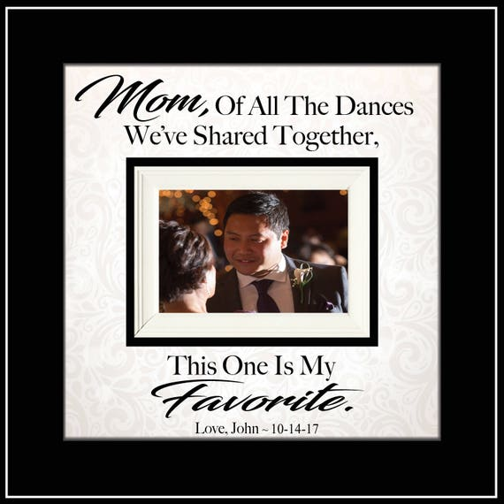 Mother Son Dance Frame Thank You Gift From Groom