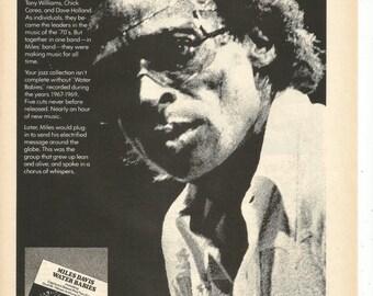 1977 Advertisement Miles Davis Celebrity Water Babies Album Portrait Band Group Jazz Jam Practice Music Studio Room Wall Art Decor