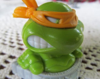 FEAR THIS Michaelangelo Teenage Mutant Ninja Turtle 1991 Ninja Turtle Birthday Party Michaelangelo  Ninja Turtle Birthday Cake Topper