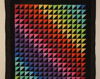 Bright Rainbow Quilt--FREE SHIPPING!!!