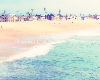 Beach Photography, 8x10 print, Ocean Photography, Calming, California, Los Angeles, Waves, Blue, Turquoise, GBK's 2013 Emmys Gift Lounge