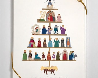 The Ancestry of Jesus Christmas card, set of 8 (5x7)