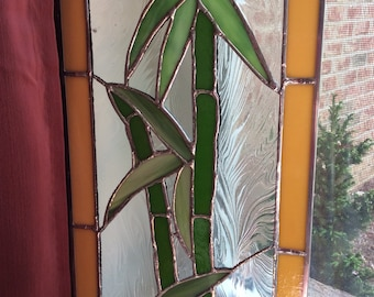 Stained Glass Bamboo Sun catcher Bamboo Wall hanging