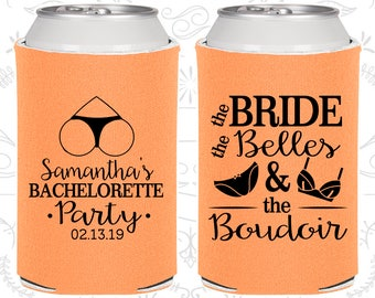 Bachelorette Party Can Coolers, Brides Belles The Boudoir, Bachelorette Party Favors, Bachelorette Can Cooler, Bachelorette Ideas (C60085)