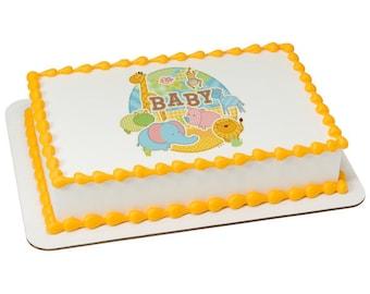 Safari Babies Edible Cake Topper