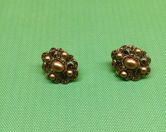 Monet Bling Gold Clip-On Earrings