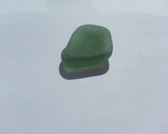 Green frosted sea glass - green beach glass