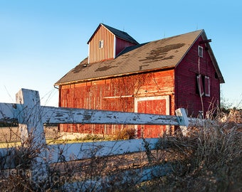 Red Barn Photography, Rustic Farmhouse Decor, Farmhouse Photo Print, Rustic Barn Art, Barn Wall Art, Country Landscape Photography