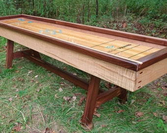 Tiger Maple Shuffleboard Table (9 Foot) (Or Curling Table)