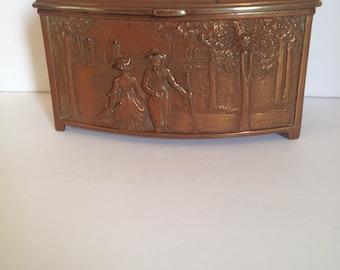 1920's Metal Trinket/Vanity Box by W.B. Mfg Co.