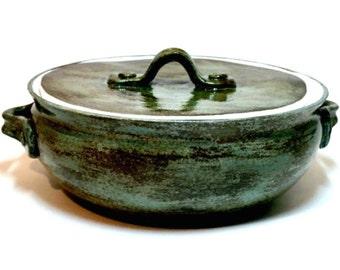 Rustic Pottery Bakeware; Small Baking Dish, Rustic Dish, Rustic Kitchen, Stoneware Dishes, Small Bakeware, Handmade Pottery, Casserole Dish