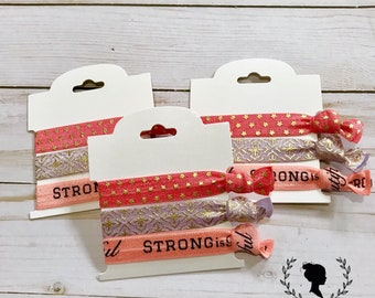 Strong is Beautiful Hair Tie Set