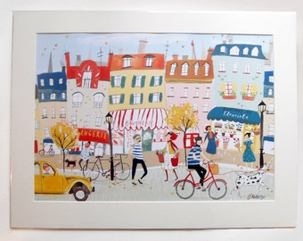 French Street, Mounted print