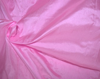Fine Indian Silk taffeta in Persian Rose/Pink, Fat quarter-TF 16.