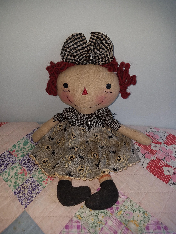 Primitive Raggedy Halloween doll Halloween decoration cloth