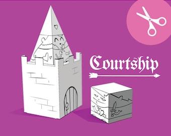 Courtship - Cut and Paste Craft for Kindergarten Kids (Download)
