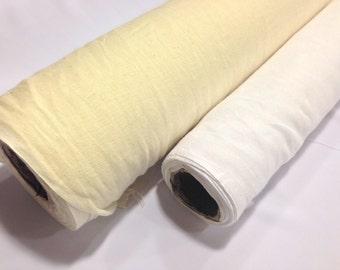 New Cream Muslin Fabric 150cm wide