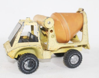 Yellow Cement Truck, Vintage Toy