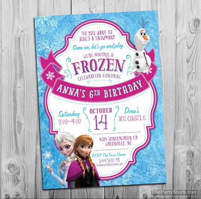 frozen birthday party invitations Minimfagencyco