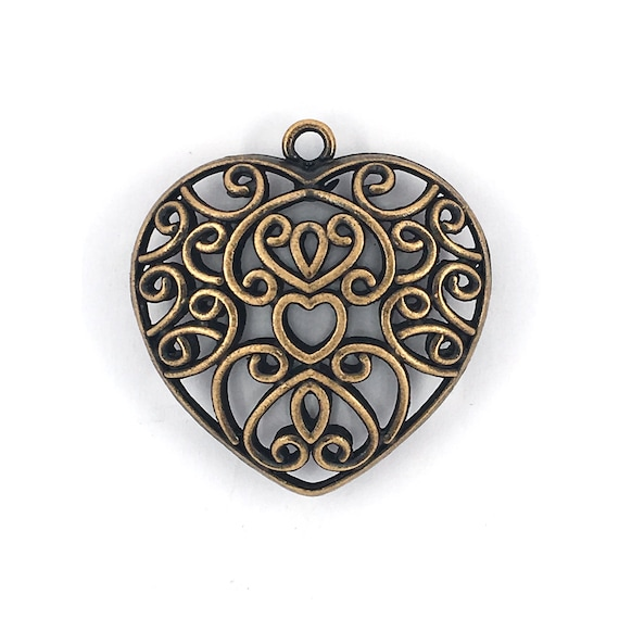 "Great charm - copper colored ""Heart"""