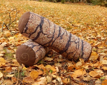 Log Pillow / Bolster Pillows / Rustic Decor / Cabin Decor / Cabin Pillow / Gifts For Her / Handmade Gifts / Gifts For Him / Imagiantion Toys