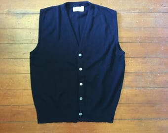 Vintage Black Sweater Vest