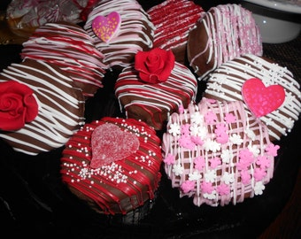 Mother's Day Chocolate Covered Ding Dongs(10 Per order)/Mother's Day/Party Treats/Hostess Gifts/Teacher's Gifts/Showers/Birthday Parties