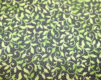 Ivy Lane for Quilting Treasures Green Leaves and Vines Quilt Shop Quality Fabric Sold by the Half Yard