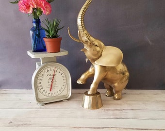 Large Brass Elephant 19 inches tall/ Brass Circus Elephant/ Vintage Elephant Figurine/ Elephant Statue/ Vintage Brass Animal/ Elephant Decor