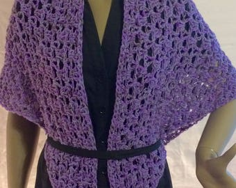 Lavender shawl/crochet shawl/clothing/gift for her/crochet wrap/cape/women accessories/handmade/women scarf/birthday gift/triangle scarf