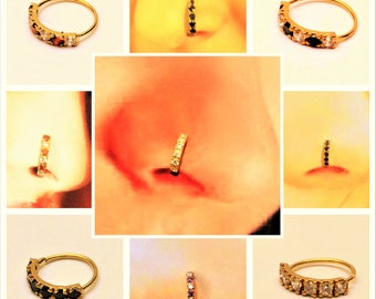 Stunning Nose ring in pure Gold