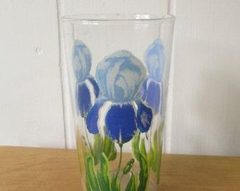 vintage iris glass