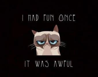 "Grumpy Cat 2"" x 3.5""  Refrigerator Magnet"