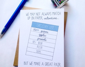 Funny Valentine Card / Sweet Valentine for Him / Humor Valentine / Love card / Sweet Valentine