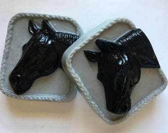 Horse Soap  - Horse Head Soap - Animal Soap - Animal Lover - Equestrian - Free U.S. Shipping - You Choose Colors and Scent - Horse