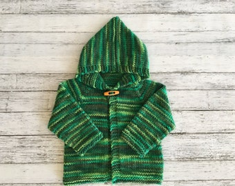 hand knit baby cardigan  6-12 months