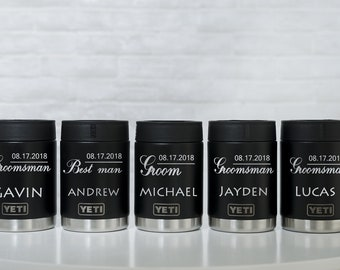 Personalized Yeti Colster Engraved Yeti Colster Custom Yeti Colster Color Yeti Can Colster 12 0Z Yeti Rambler Colster Wedding Party Favors