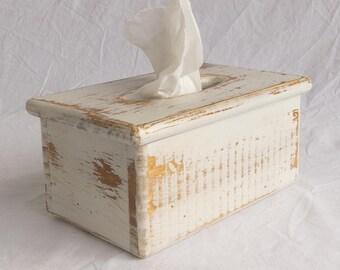 Tissue Box Holder - Wooden - Rectangular tissue boxes - Holds rectangular facial tissue boxes