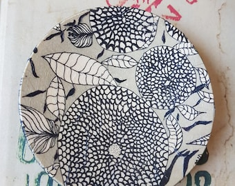 Vintage Inspired Hand-Made Decoupaged Wooden Mini Plate