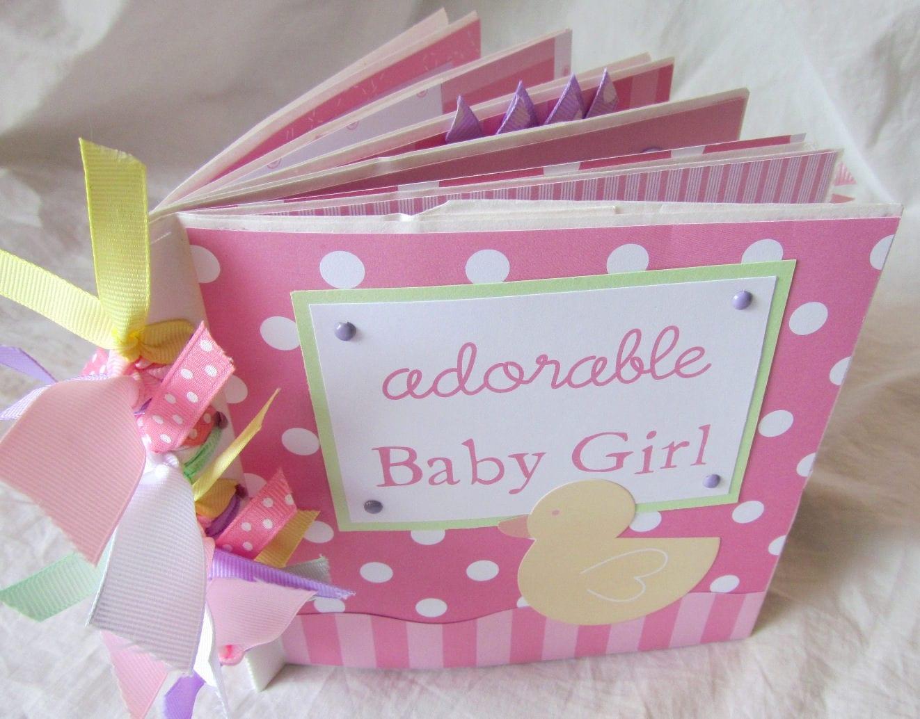 Mini Album BABY GIRL 6x6 Premade Scrapbook PaPeR BaG book